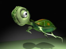 Cartoon Baby Turtle 3d model