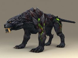 Fantasy Black Tiger 3d model