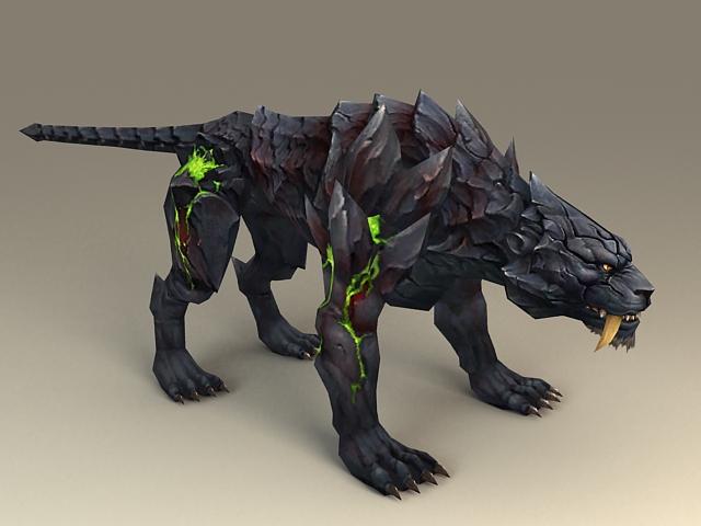 Fantasy Black Tiger 3d model