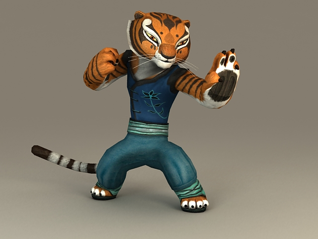 Kung Fu Panda Tigress 3d Model 3ds Max Files Free Download