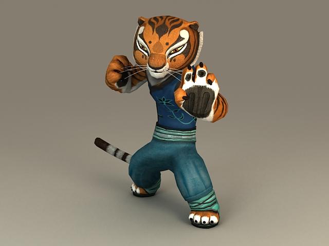 Kung Fu Panda Tigress 3d model