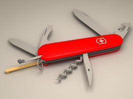 Swiss Army Knife Animated 3d model
