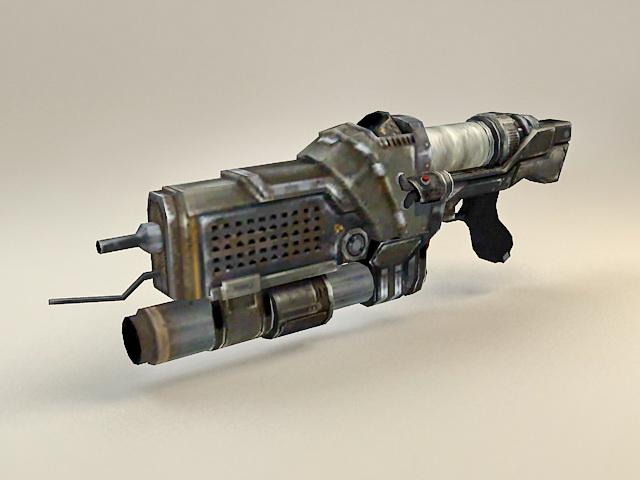 Sci-Fi Plasma Gun 3d model