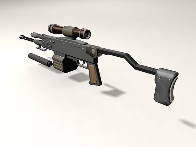 Barrett M98b With Cartridge And Scope 3d Model 3ds Max Files Free
