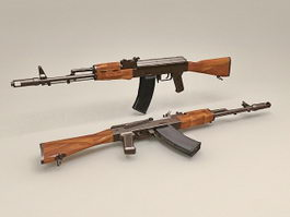 Russian AK-74 Rifle 3d model