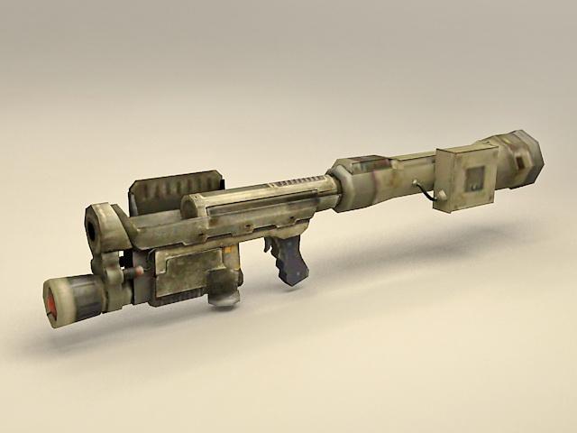 Future RPG rocket-propelled grenade 3d model