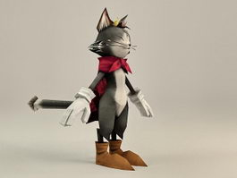 Cait Sith Final Fantasy character 3d model