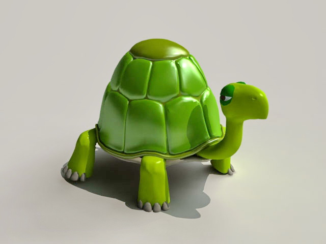 Turtle Comic Character 3d model