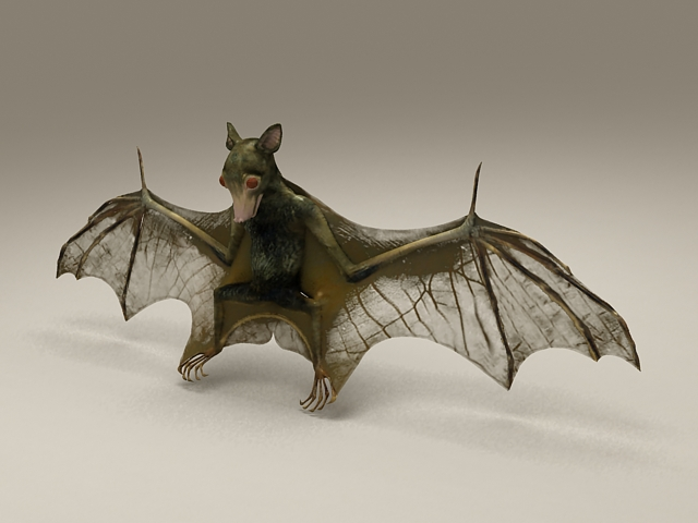 Bat Animal 3d Model 3d Studio Files Free Download