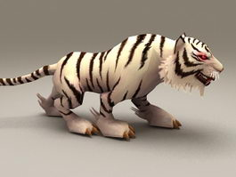 White Tiger Rigged & Animated 3d model