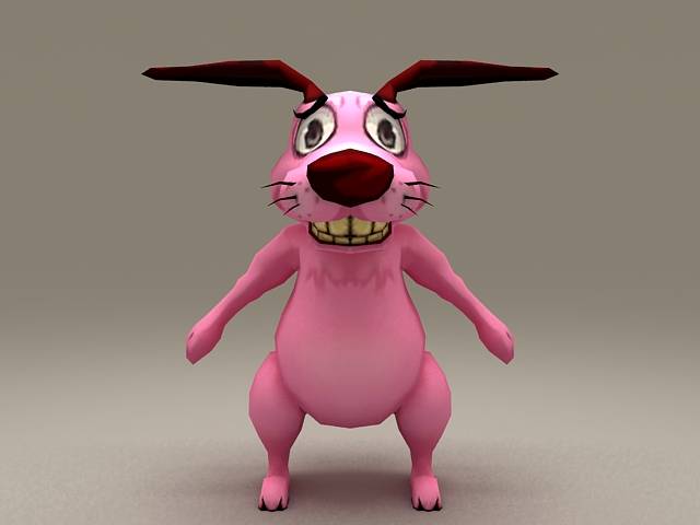 Courage the Cowardly Dog Rigged 3d model