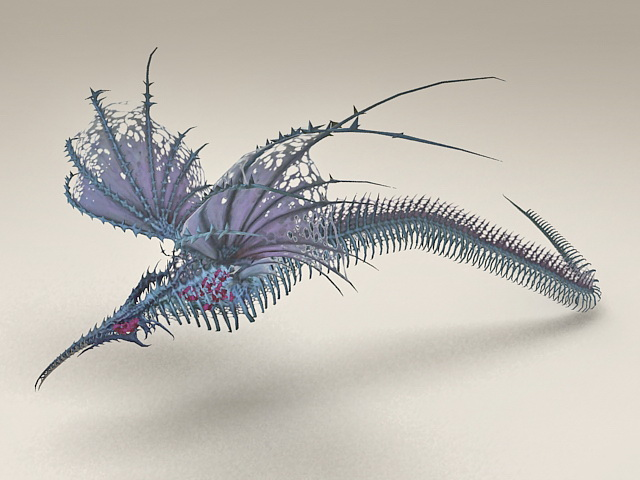 Sea Drake Bone 3d model