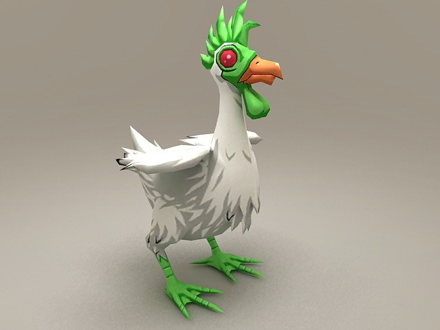 Alien Chicken Rigged 3d model
