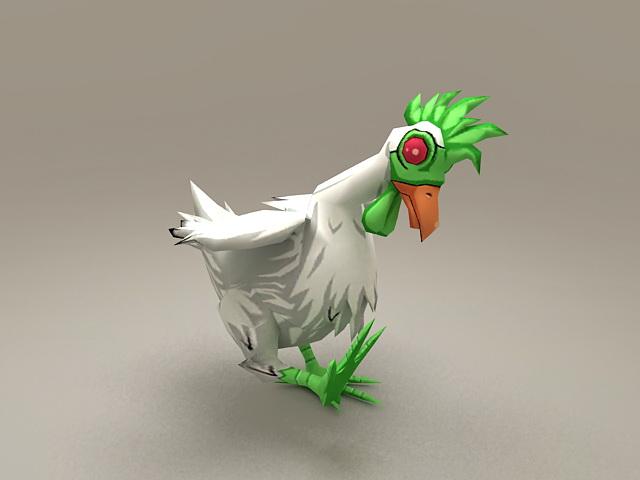 Alien Chicken Rigged 3d Model 3d Studio 3ds Max Files Free