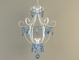 Metal Crystal Chandelier 3d model