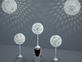Modern Spherical Light Fixture Set 3d model