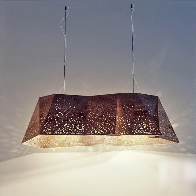 Modern Wooden Pendant Lamp 3d model
