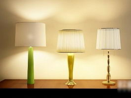Modern Table Lamps Set 3d model
