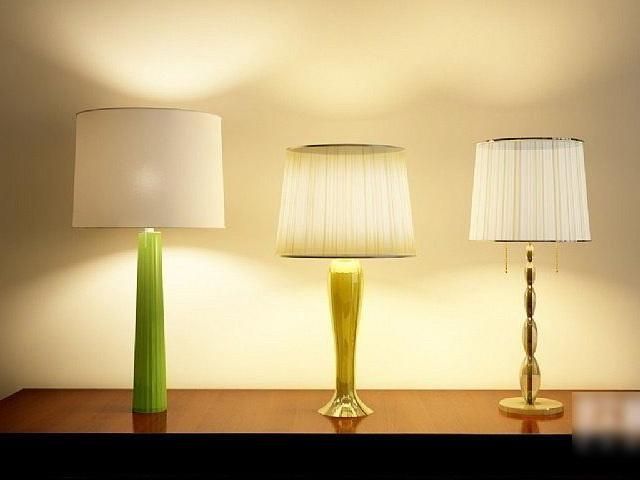 Modern Table Lamps Set 3d model