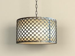 Iron Drum Pendant Light 3d model