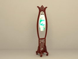 Antique Chinese Style Floor Lamp 3d model