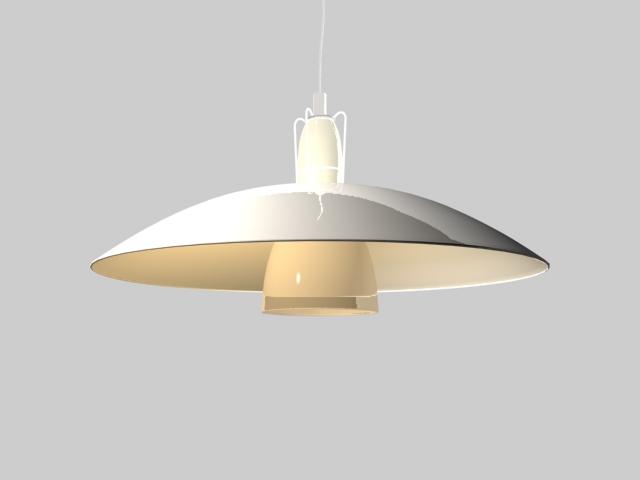 Modern Bowl Pendant Lighting 3d model