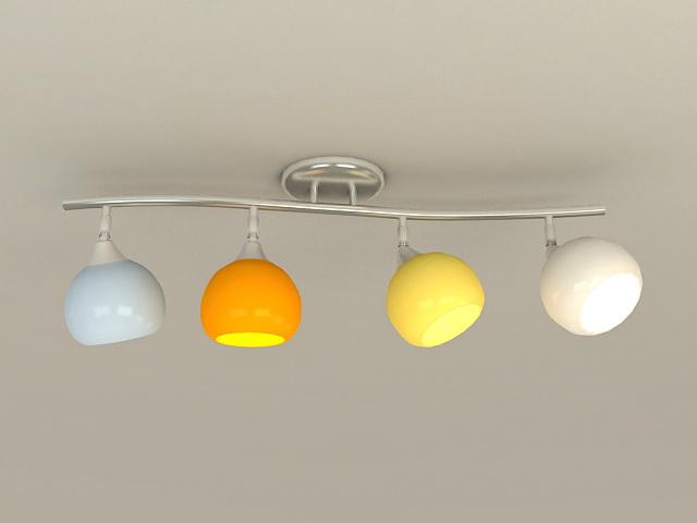 Semi Flush Ceiling Lights 3d model