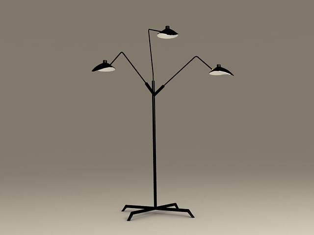 Black Iron Table Lamp 3d model