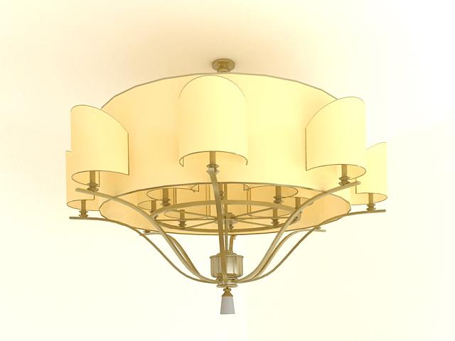 Semi Flush Mount Ceiling Light 3d model