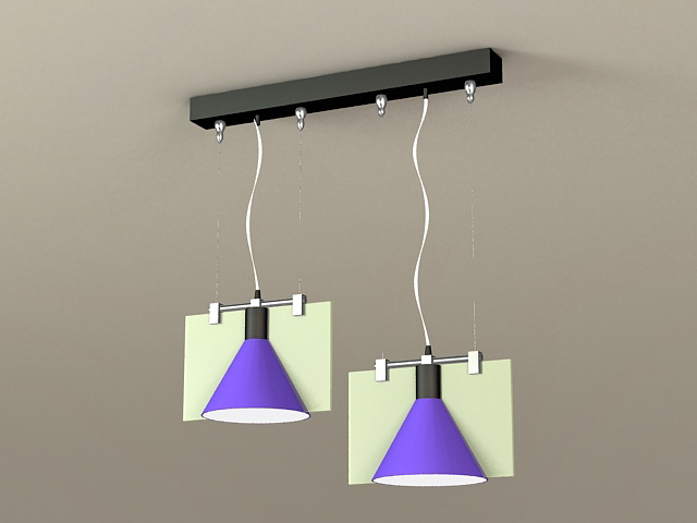 Modern Dining Room Pendant Light 3d model