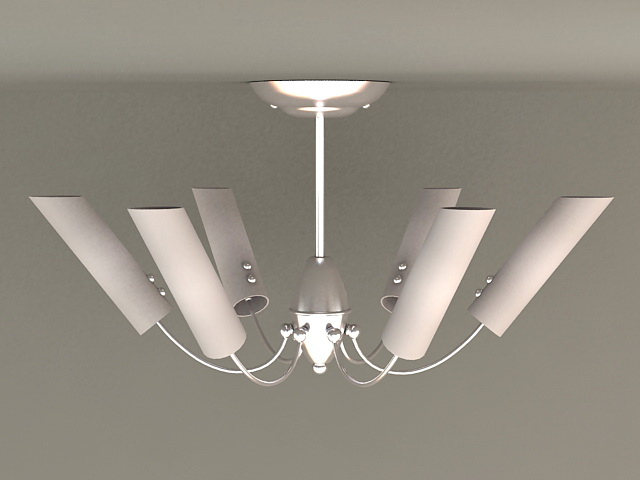 6 Light Semi Flush Ceiling Light 3d model