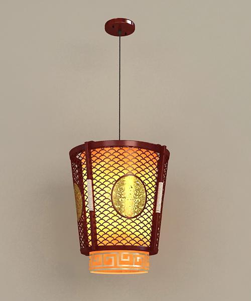 Chinese Lantern Hanging Lamp 3d model