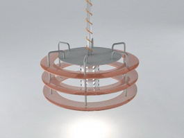 Modern Industrial Pendant Light 3d model
