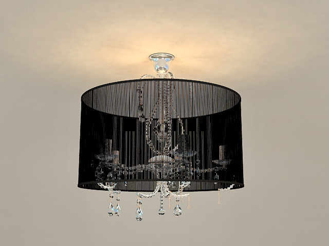 Drum Shade Pendant Chandelier 3d model