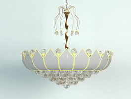 Crystal Crown Chandelier 3d model