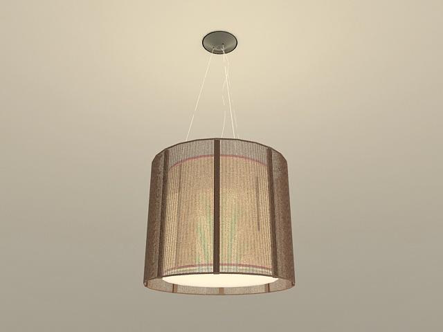 Drum Hanging Lamp 3d model