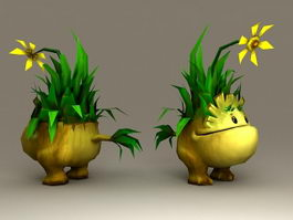 Tiny Grass Monster 3d model
