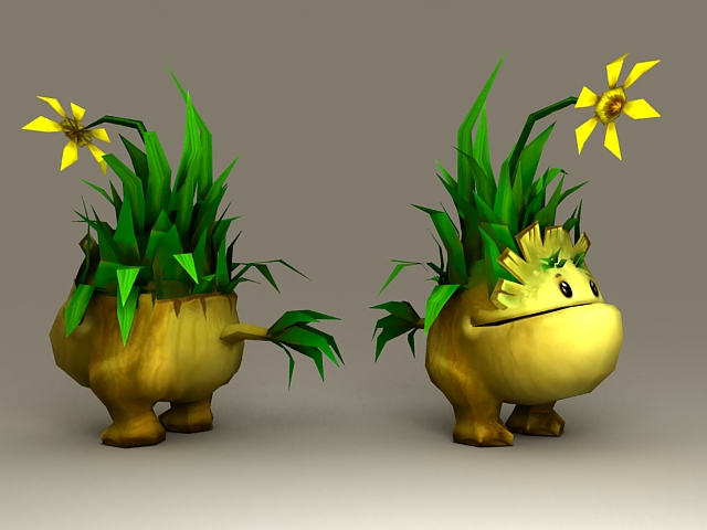 Tiny Grass Monster 3d model