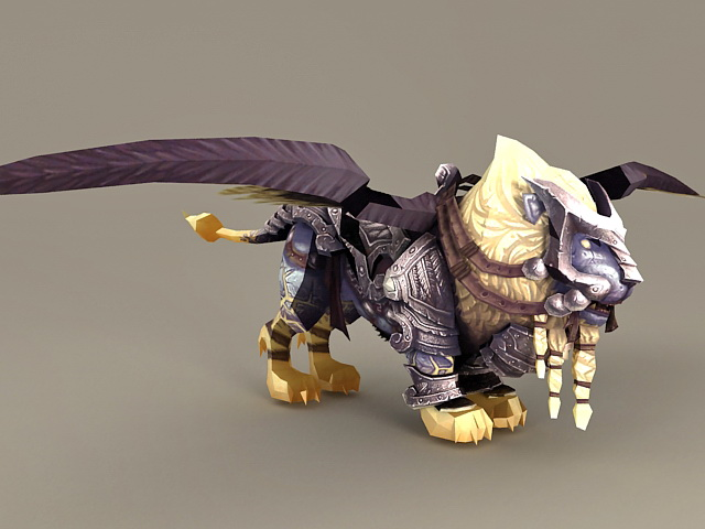 Winged Lion Mount 3d model