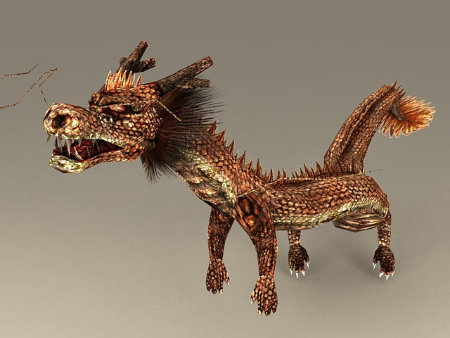 Chinese Dragon Rigged 3d model