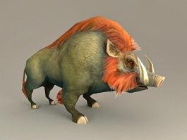 Fantasy Wild Boar 3d model