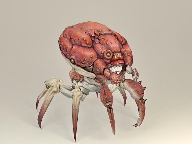 Giant Monster Crab 3d model 3ds Max files free download ...