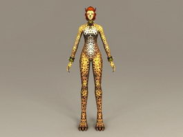 Leopard Woman 3d model