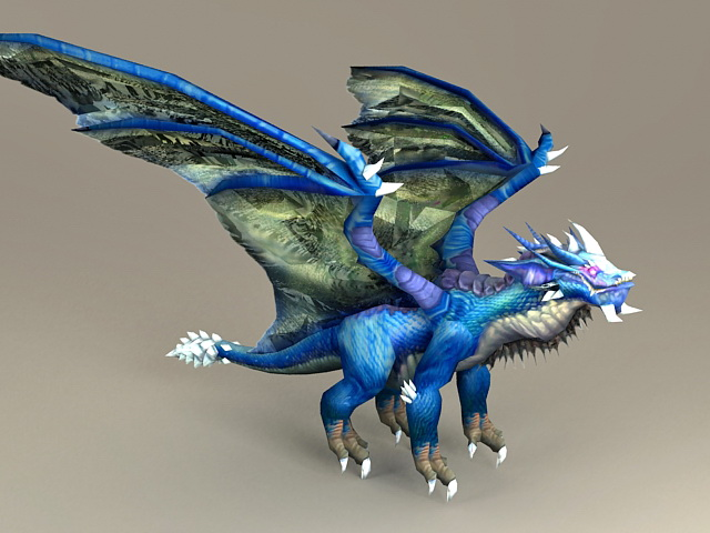 Blue Dragon Kalecgos 3d model
