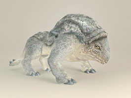 Hippo Lizard Monster 3d model