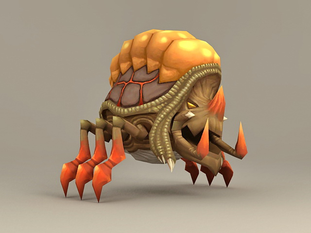 Shelled Bug Monster 3d model