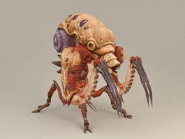 Alien Bug Warrior Concept 3d model