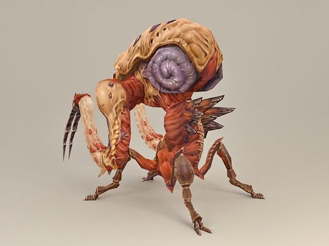 Alien Bug Warrior Concept 3d Model 3ds Max Files Free