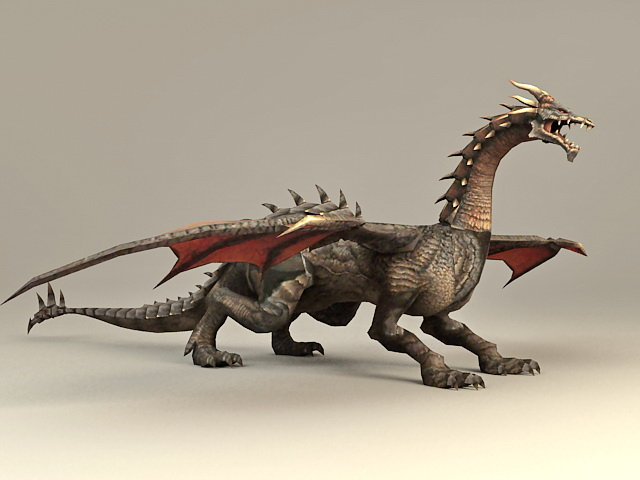 Dark Dragon 3d model