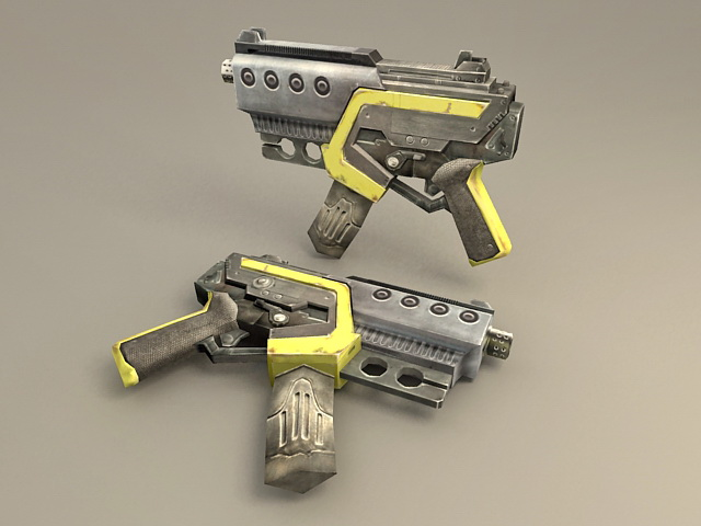 Machine Gun Pistol 3d model